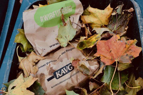 #WIRFUERBIO Biotonne im Herbst