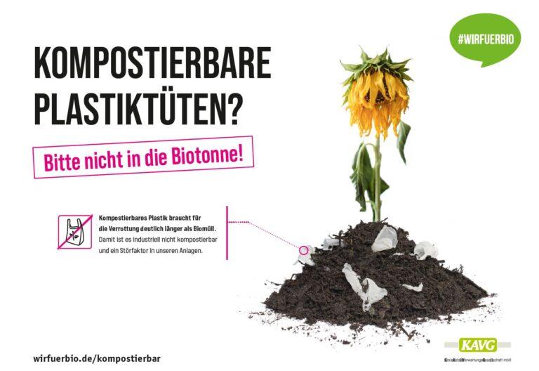 Kompostierbare Plastiktueten nicht in die Biotonne